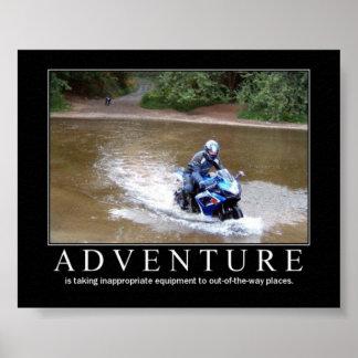 Adventure motivational poster