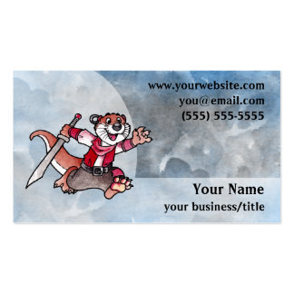 Adventure Otter Business Card - Blue and Gray