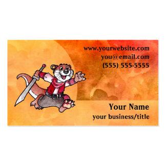 Adventure Otter Business Card - Fiery Orange