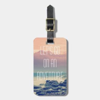 Adventure print bag tag