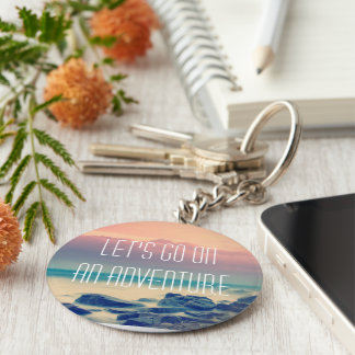 Adventure print keychain