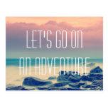 Adventure print postcard