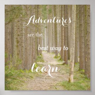Adventure Quote Typography Poster