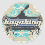 Adventure Sport Kayaking Tshirts and Gifts Classic Round Sticker