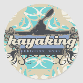 Adventure Sport Kayaking Tshirts and Gifts Round Sticker