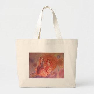 Adventure Through the Nebula Canvas Bags