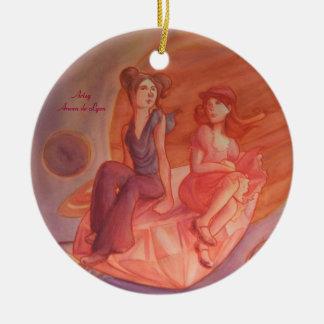 Adventure Through the Nebula Ceramic Ornament