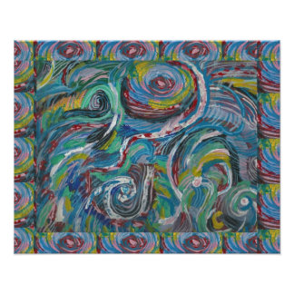 ADVENTURE Waves Abstract Art LOWPRICE Print