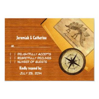 "Adventure Wedding Response Card 3.5"" X 5"" Invitation Card"