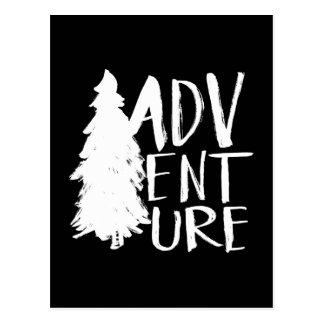 Adventure | White Brush Script style Postcard