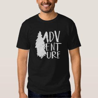Adventure | White Brush Script style T Shirt