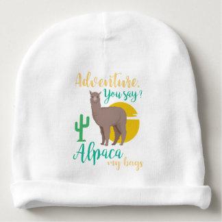 Adventure You Say? Alpaca My Bags Funny Travel Baby Beanie