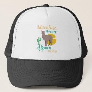 Adventure You Say? Alpaca My Bags Funny Travel Trucker Hat