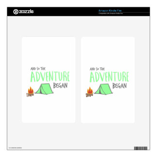 adventurebegan decal for kindle fire