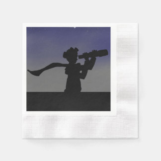 Adventurer and Telescope Paper Napkin