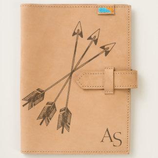 adventurer's wanderlust rustic tri-arrow journal