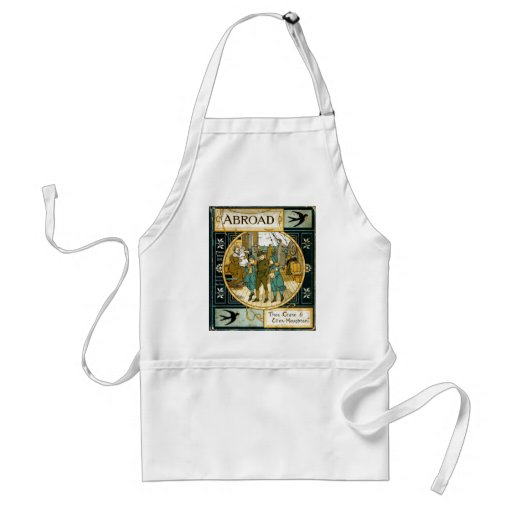 Adventures Abroad by Ship Adult Apron