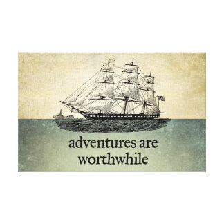 Adventures Are Worthwhile Canvas Canvas Print