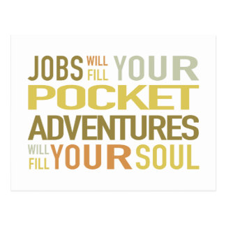 Adventures Fill Your Soul Travel Phrase Postcard
