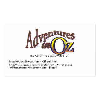 Adventures in Oz - Business Cards