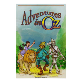 Adventures in Oz - Wizard Poster