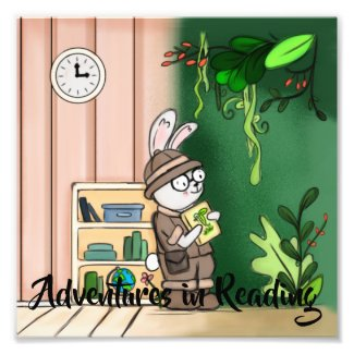 Adventures in Reading Digital Art Photo Print