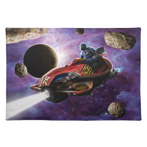 Adventures In Space Cloth Placemat
