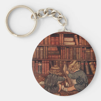 Adventures in the Library Basic Round Button Keychain