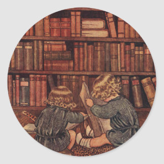 Adventures in the Library Classic Round Sticker