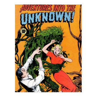 Adventures into the Unknown - Angry Plant Postcard