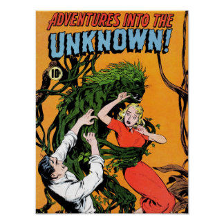 Adventures into the Unknown - Angry Plant Poster