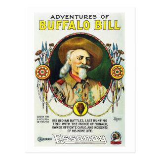Adventures of Buffalo Bill Postcard
