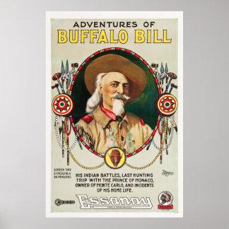 Adventures of Buffalo Bill - Vintage 1917 poster