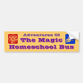 Adventures of The Magic Homeschool Bus Car Decal