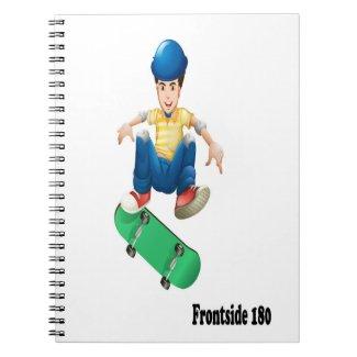 Adventures on an Alien Skateboard Frontside 180 Notebook