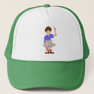 Adventures on an Alien Skateboard Hat