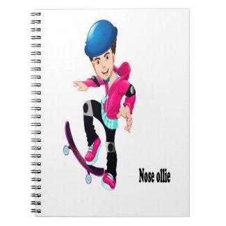 Adventures on an Alien Skateboard Nose Ollie Notebook
