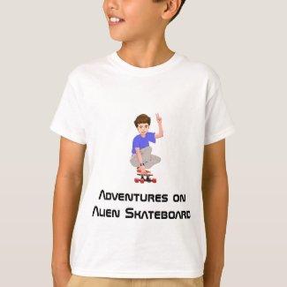 Adventures on an Alien Skateboard Shirt
