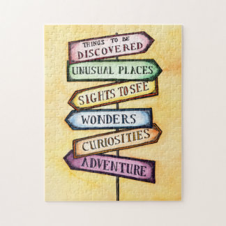 Adventures Street Sign Jigsaw Puzzle