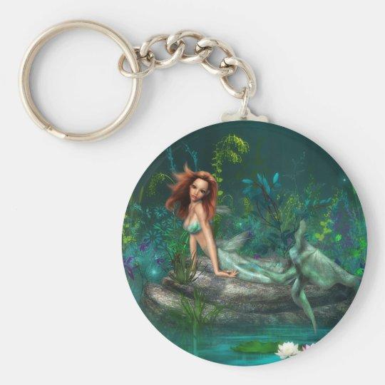 Adventurine Mermaid Keychain