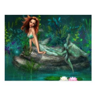 Adventurine Mermaid Postcard