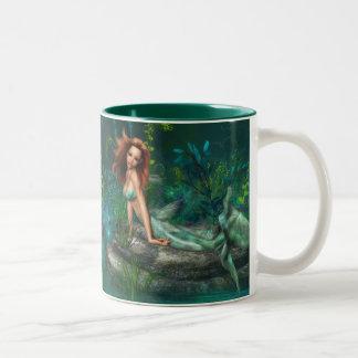 Adventurine Mermaid Two-Tone Coffee Mug
