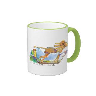 Adventuring Lion and Bird Mug