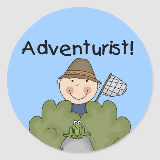 ADVENTURIST Tshirts and Gifts Classic Round Sticker