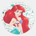 Adventurous Ariel Classic Round Sticker