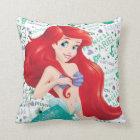 Adventurous Ariel Throw Pillow