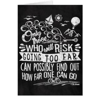 Adventurous Dreamer Motivational Chalk Typography Card