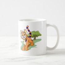 Adventurous orange Kougra on Mystery Island mugs
