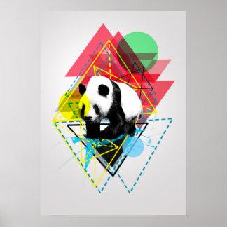 Adventurous Panda Poster