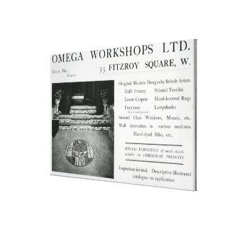 Adverisement for the Omega Workshops Ltd Canvas Print